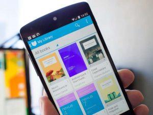 google play books smartphone audiolibri