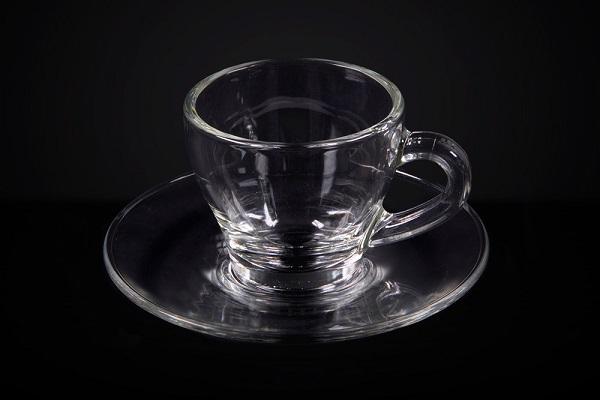 tazzina da caffè in vetro